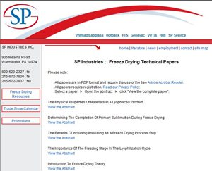 Online library for freeze drying and lyophilisation...