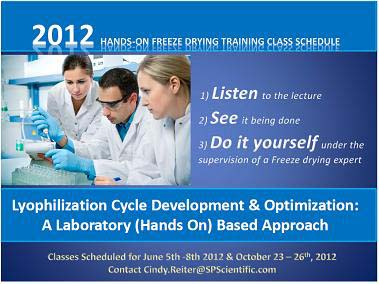 Training Courses in Laboratory Freeze Drying